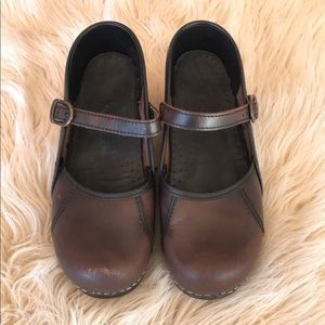 Dansko leather clogs size 37""